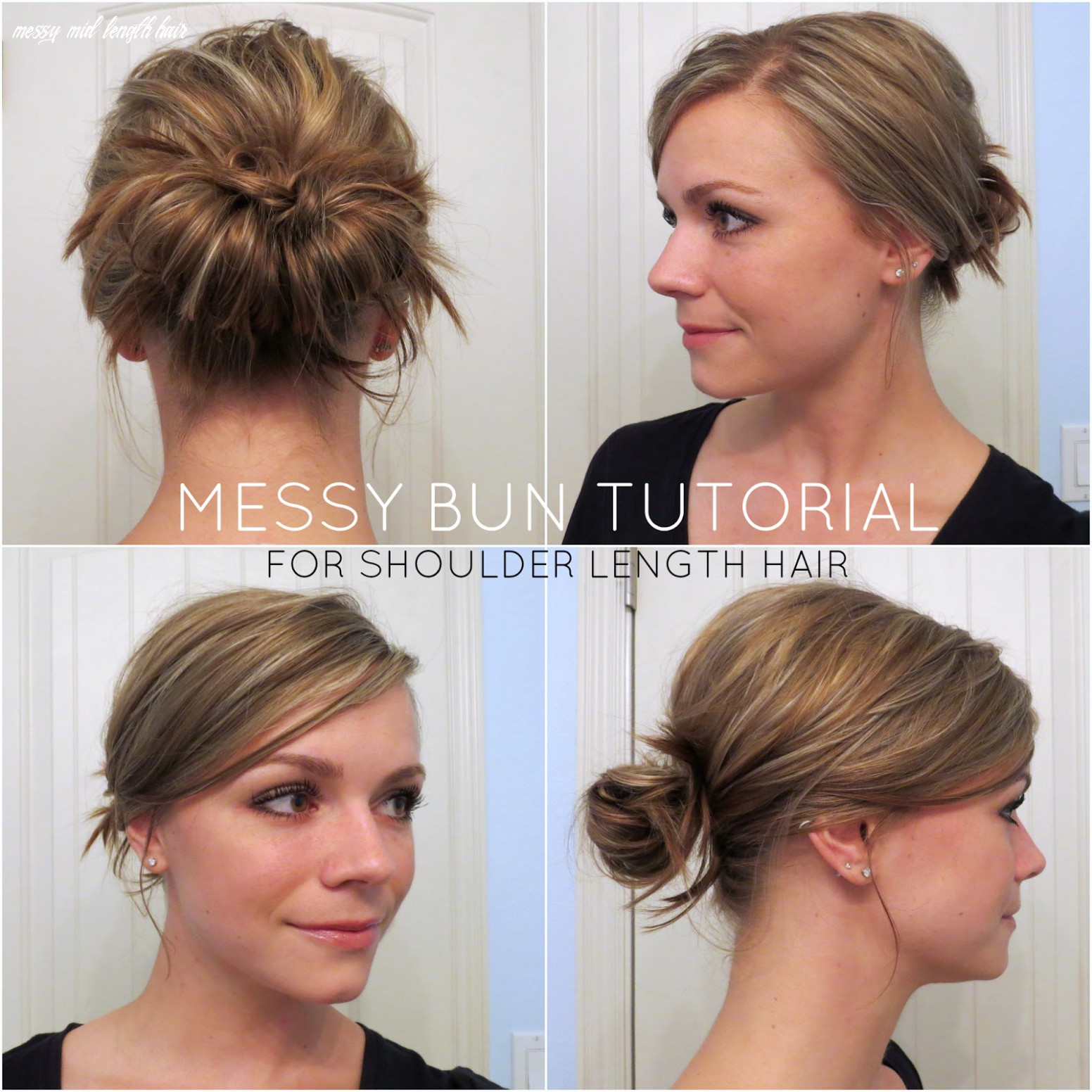 Aunie sauce: messy bun for shoulder length hair messy mid length hair