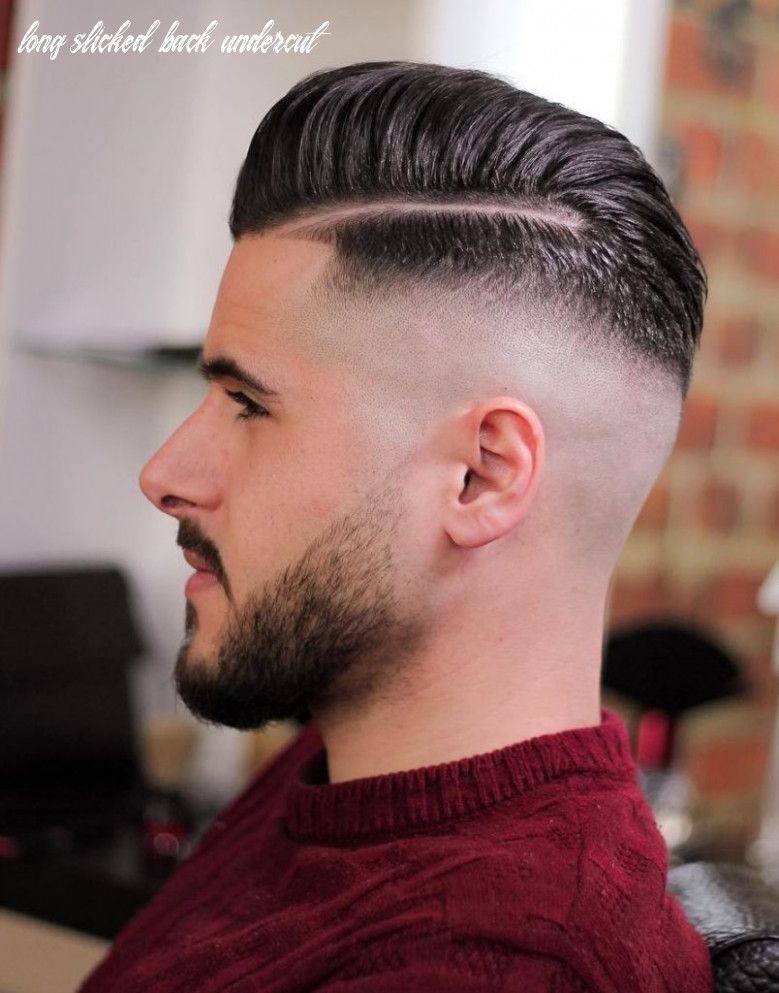 Awesome slicked back undercut with long hair 10 lustyfashion long slicked back undercut