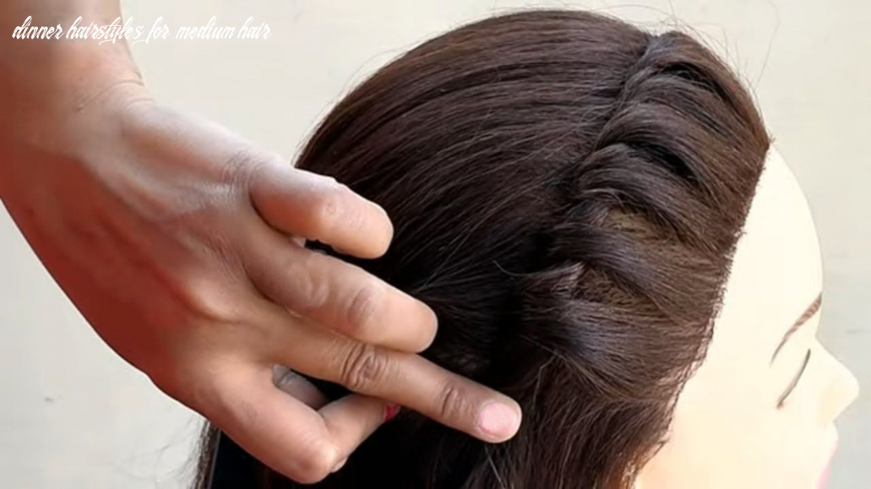 Beautiful party wear hairstyle for medium hair 12 || quick