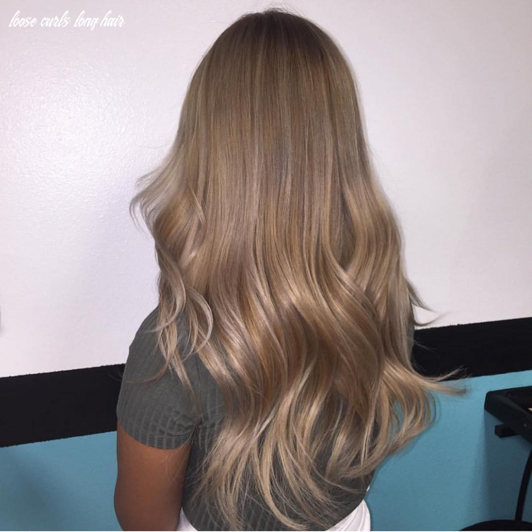 Beautybydrose subtle balayage loose curls for long hair