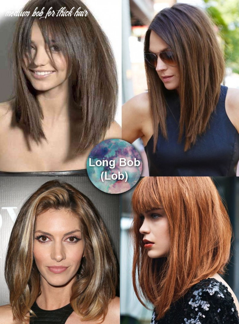 Best medium length hairstyles for thick hair – circletrest medium bob for thick hair