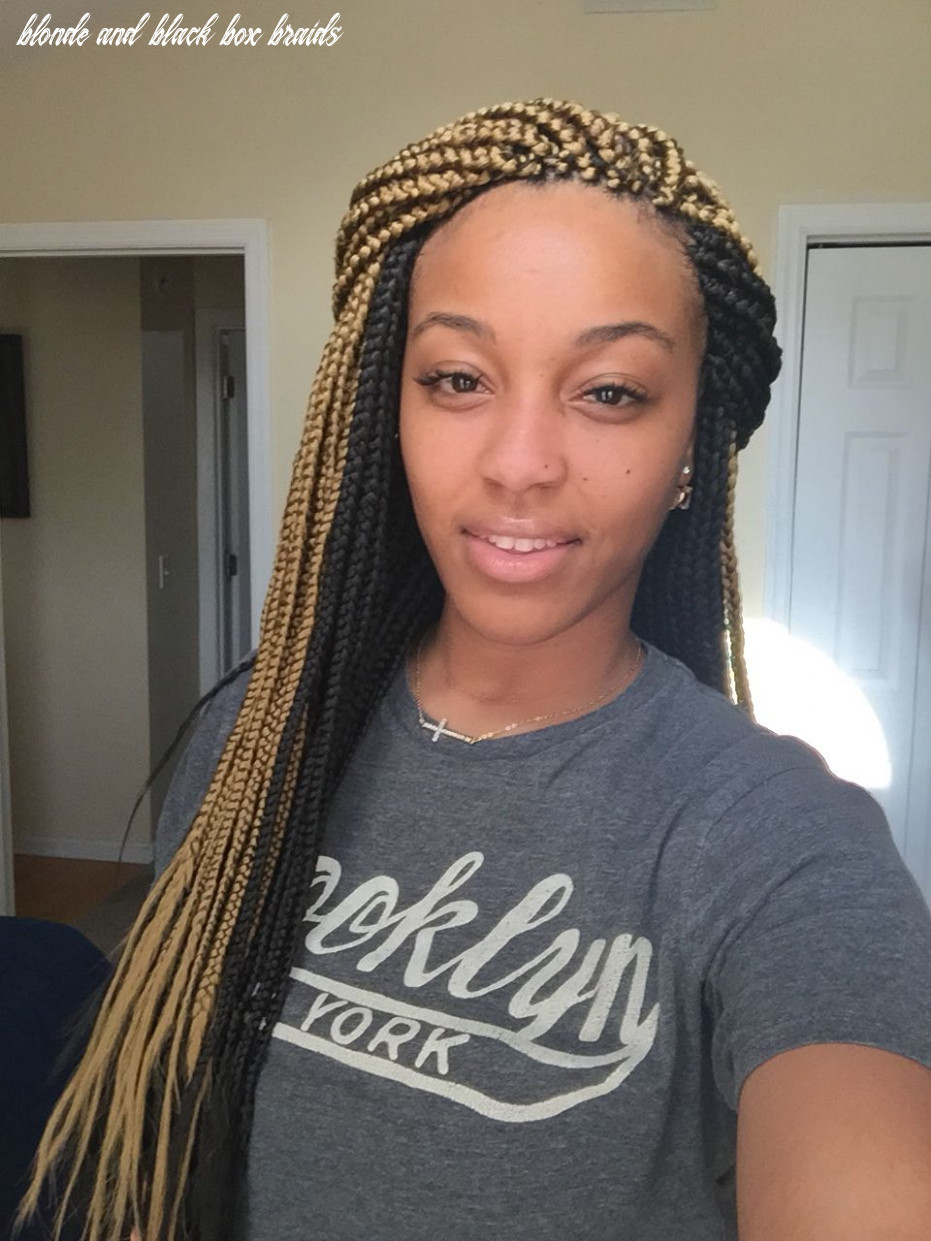 Blonde/black box braids | black box braids, box braids hairstyles
