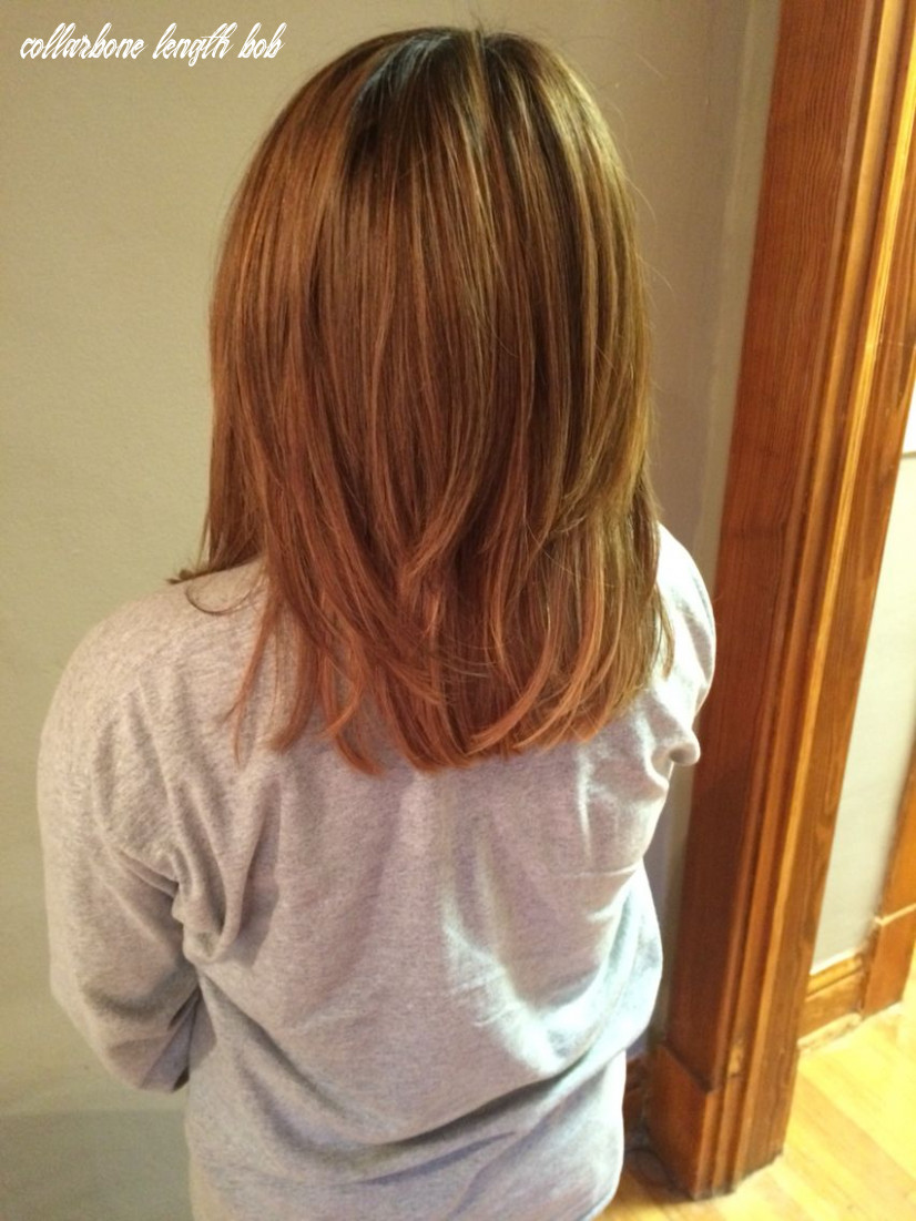 Bob after extensions, now collarbone length #bob #shorthair   long