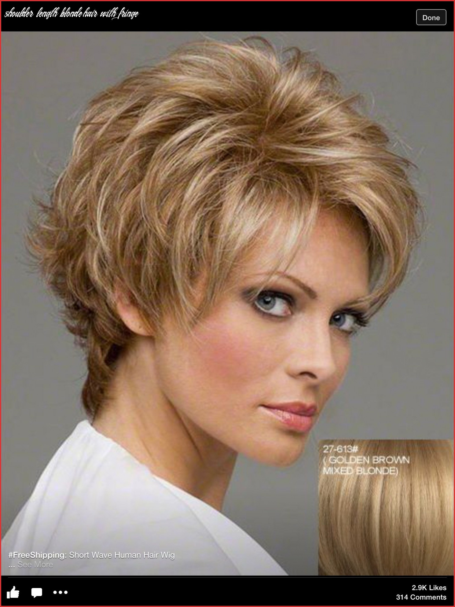 Bob Hairstyles with Bangs Best Of Shoulder Length Blonde Hair ...