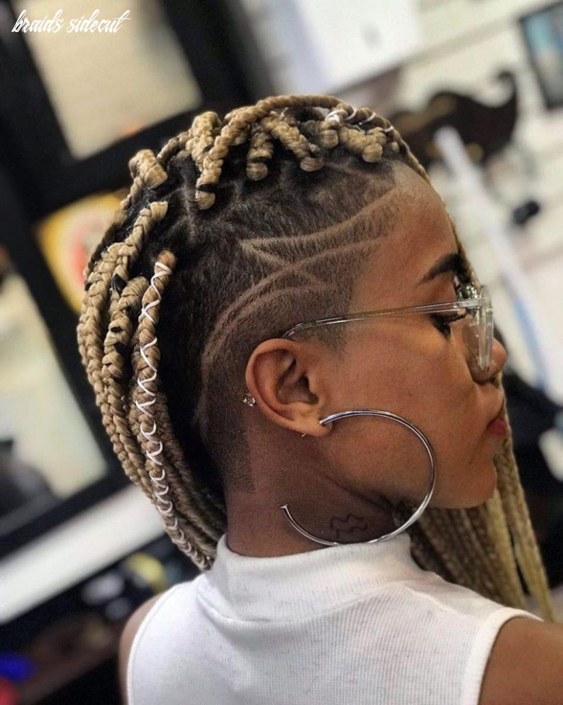 Box braids with shaved sides: 12 stylish ways to rock the look braids sidecut