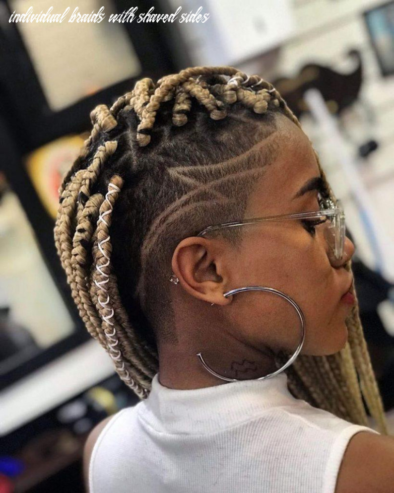 Box braids with shaved sides: 12 stylish ways to rock the look individual braids with shaved sides