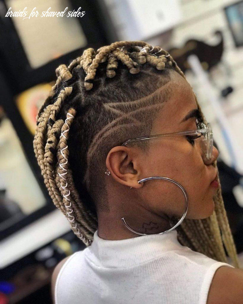 Box braids with shaved sides: 8 stylish ways to rock the look braids for shaved sides