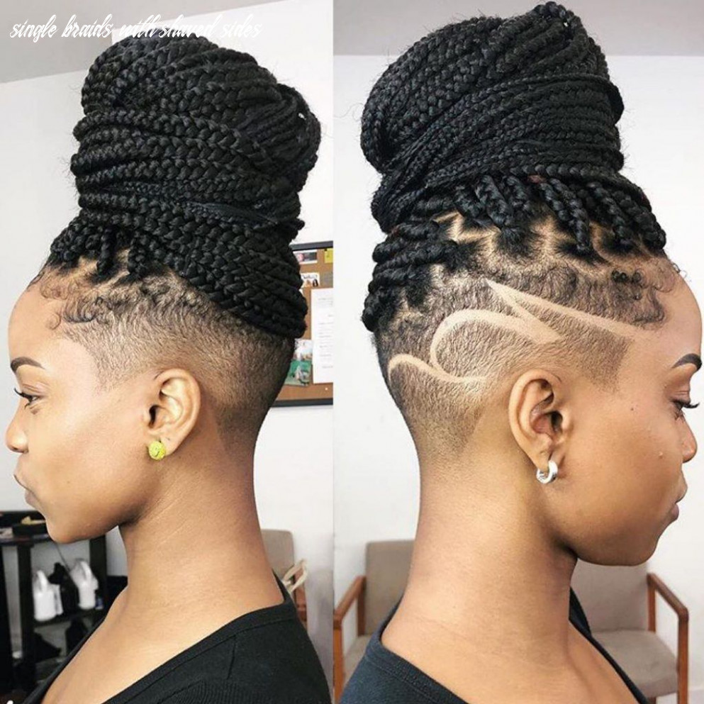 Box braids with shaved sides: 8 stylish ways to rock the look single braids with shaved sides