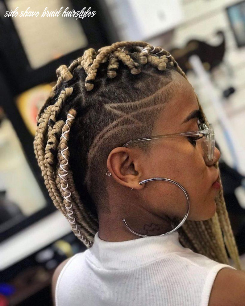 Box braids with shaved sides: 9 stylish ways to rock the look side shave braid hairstyles