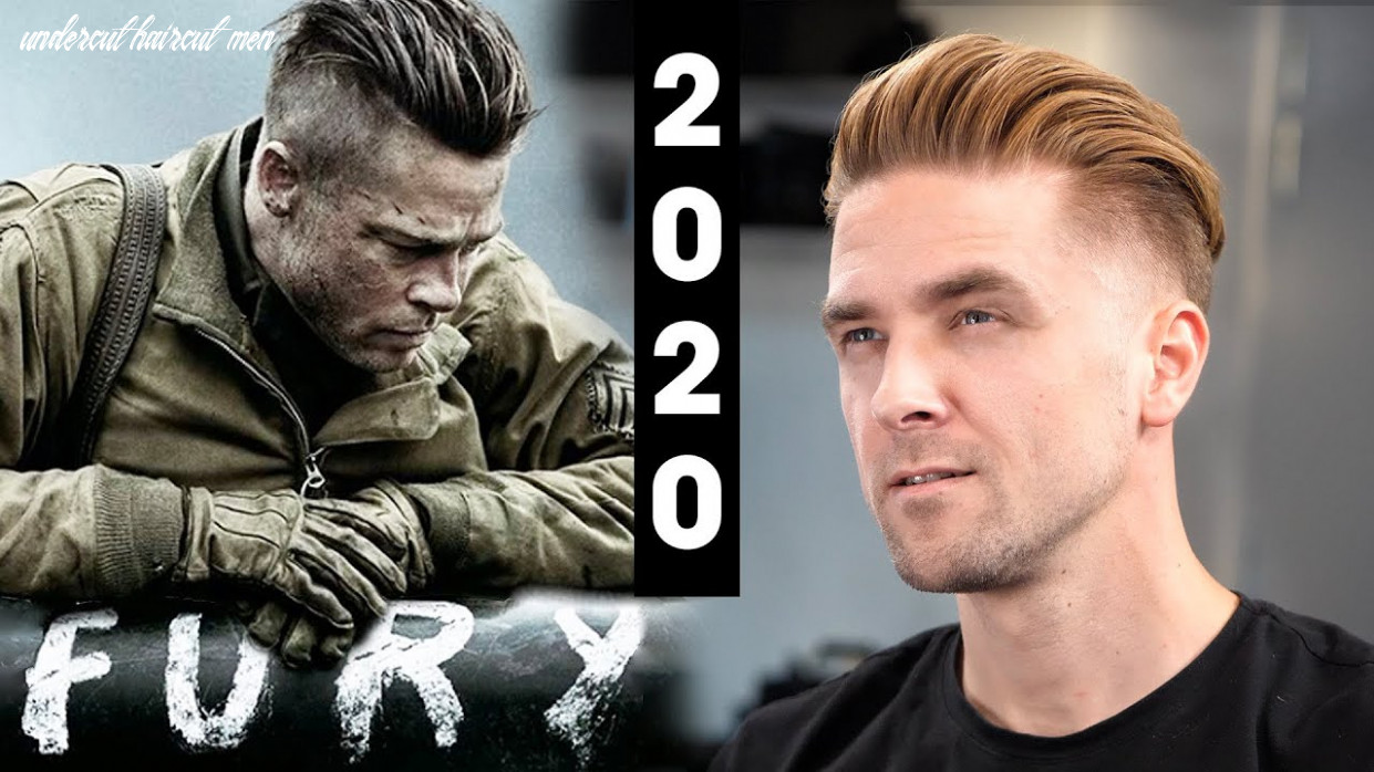 Brad Pitt Fury Undercut - Men's Hair 8