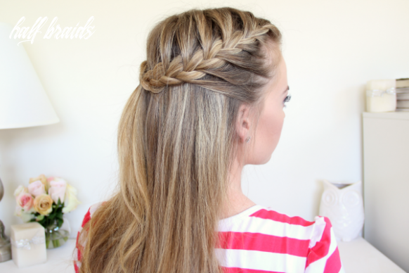 Braid 12 half up french braids hairstyleto half braids