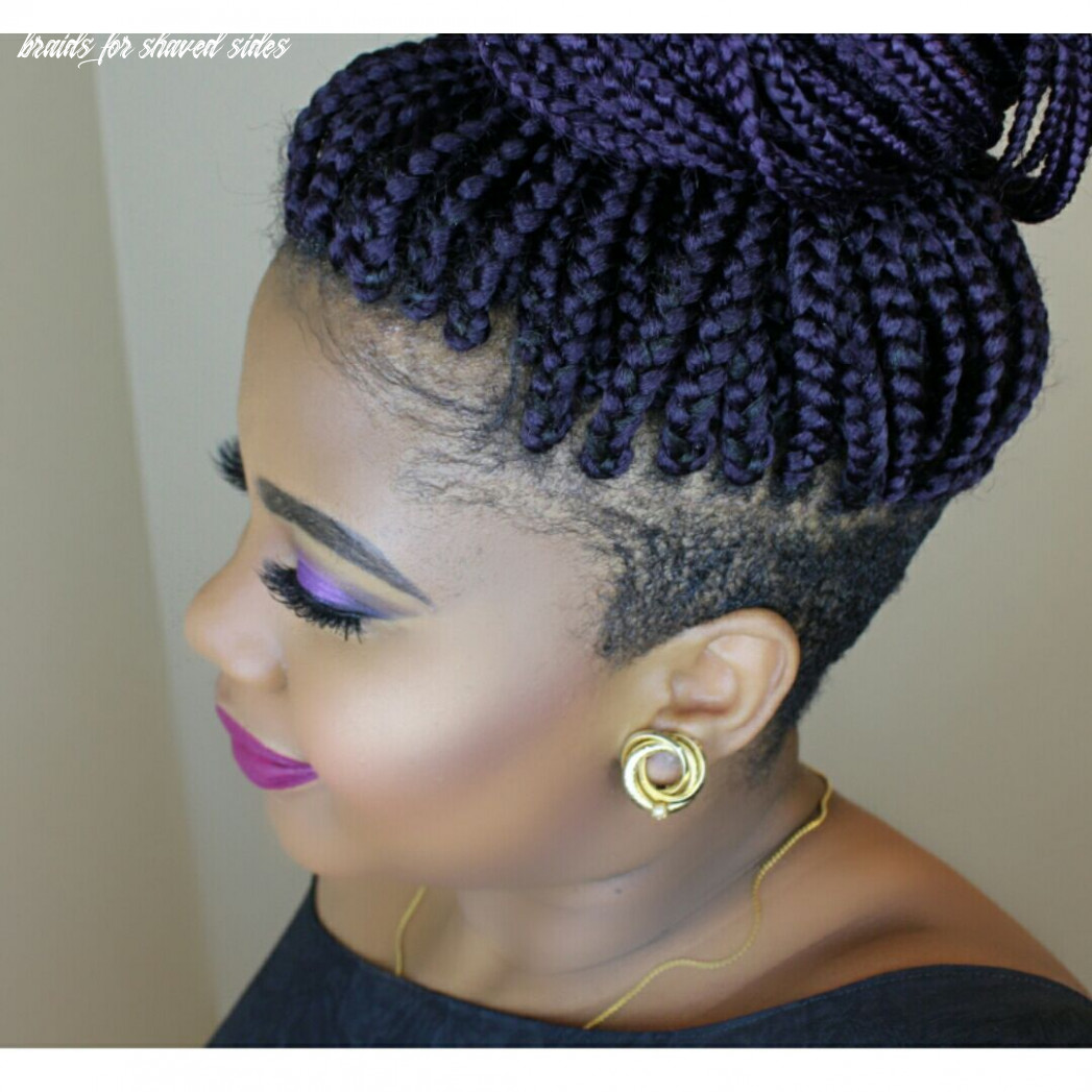 Braids with shaved sides (with images) | braids with shaved sides