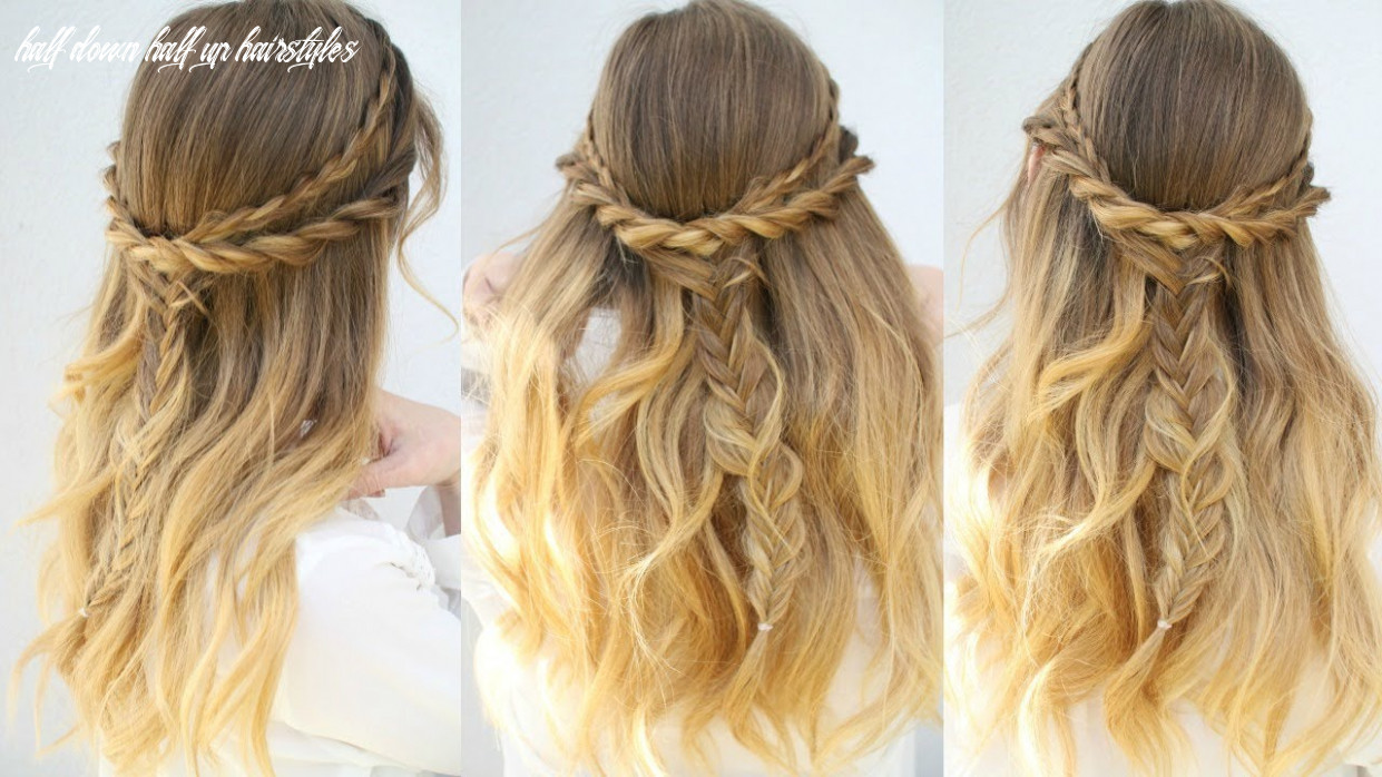 Casual everyday half up hairstyle | half down hairstyles | braidsandstyles9 half down half up hairstyles