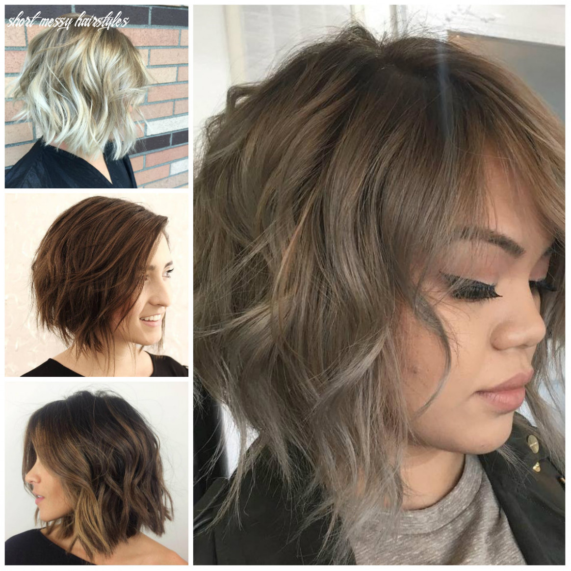 Casual short messy hairstyles for females | 11 haircuts