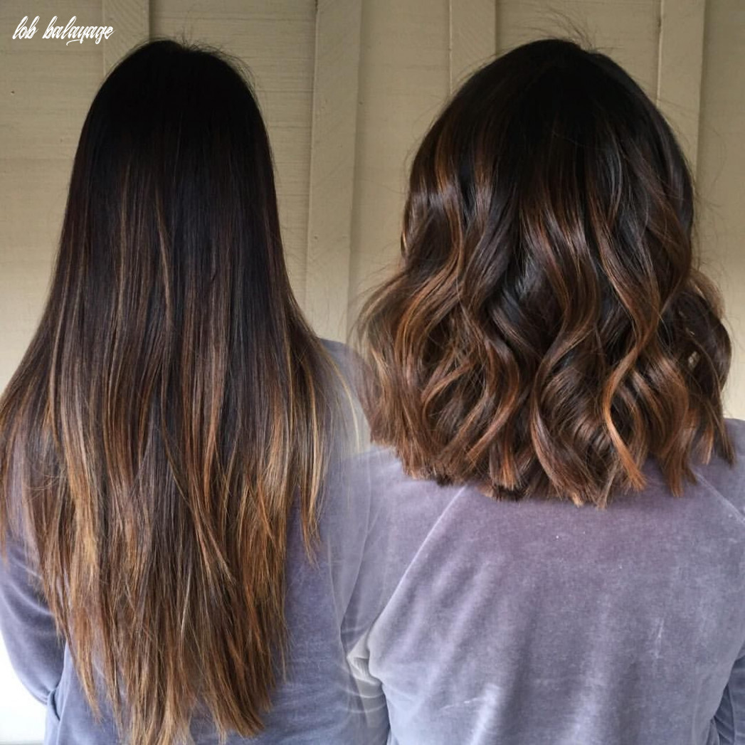Color? // balayage touch up and #lob haircut #transformationmonday