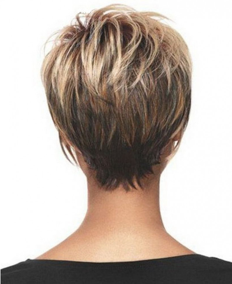 Cool back view undercut pixie haircut hairstyle ideas 11 (with