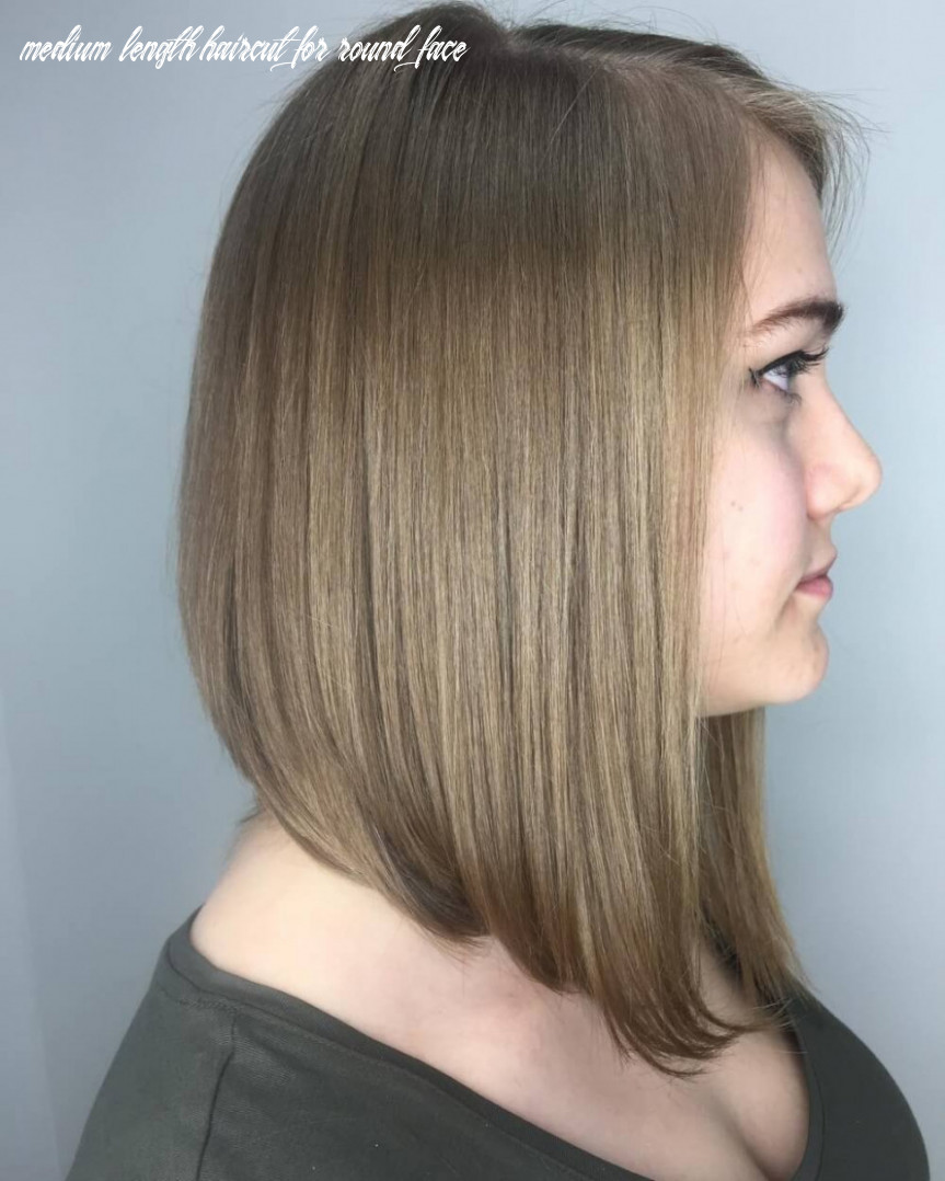 Cool middle length haircuts for round face mid length hair for