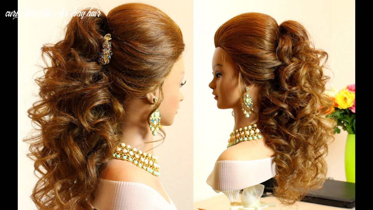 Curly bridal hairstyle for long hair tutorial curly hairstyles for long hair