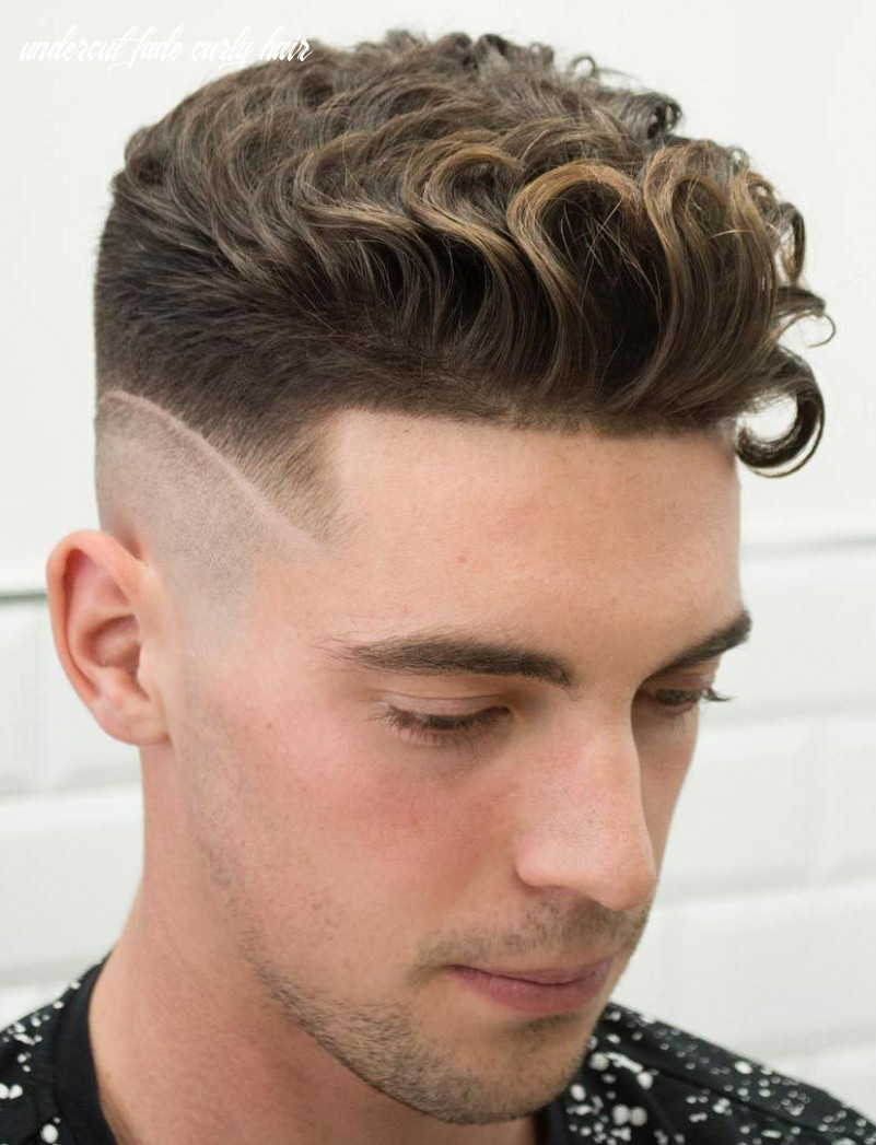 Curly undercut with a disconnected fade (with images)   wavy hair