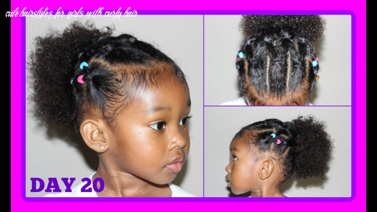 Cute hairstyle for curly hair kids | 9 days of hairstyles day 9 cute hairstyles for girls with curly hair
