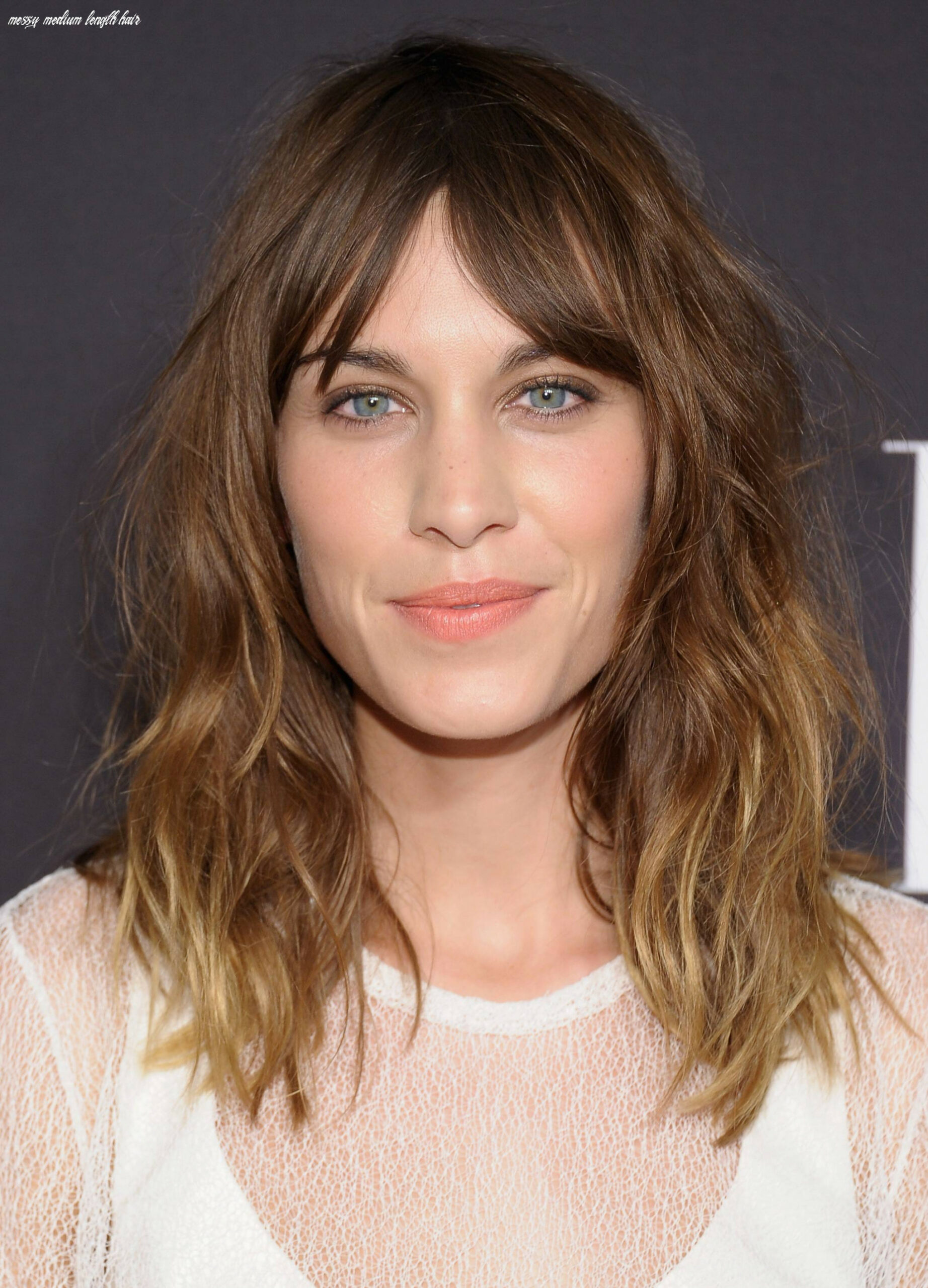 cute medium length hairstyles with messy natural look - Inspiring Mode