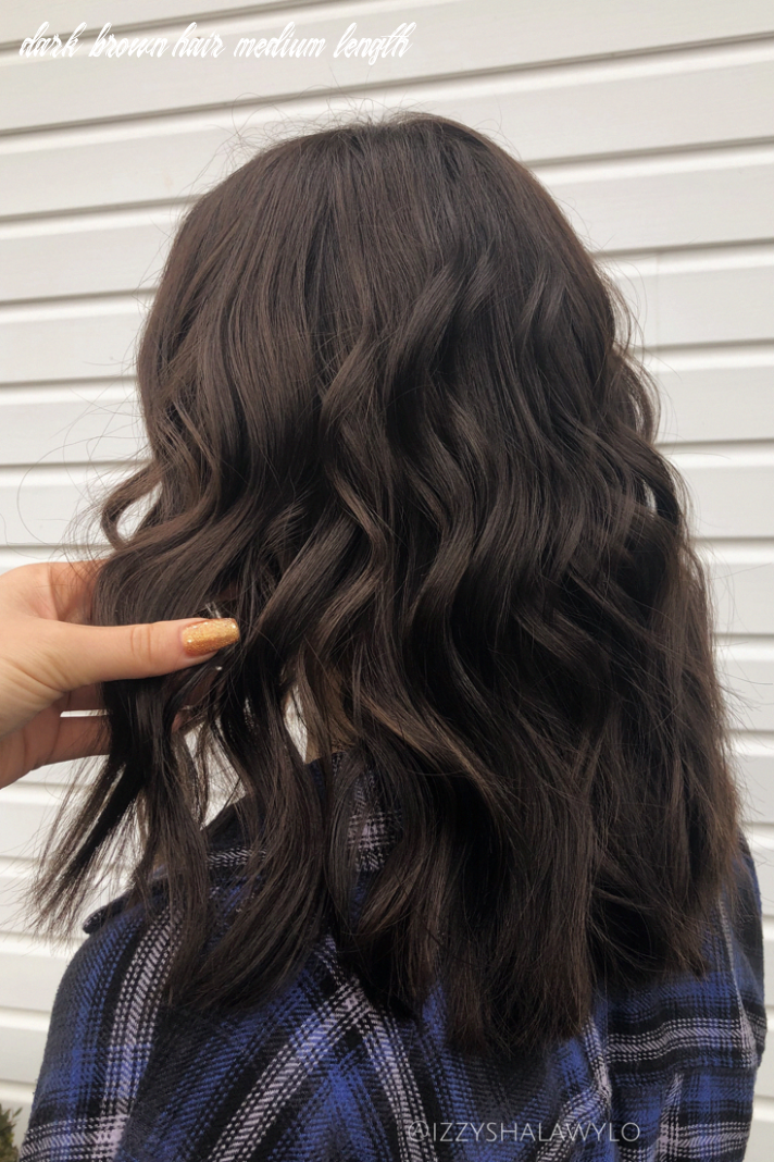 Dark chocolate brown hair, winter color, dark medium length hair