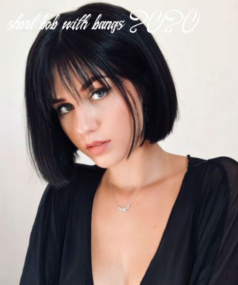 Dazzling chin length bob hairstyles with bangs for girls to look