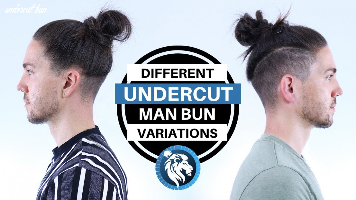 Different undercut man bun style variations mens long hair youtube undercut bun