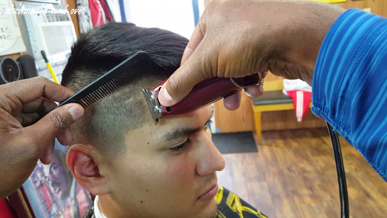 Disconnected combover tapered undercut disconnected comb over