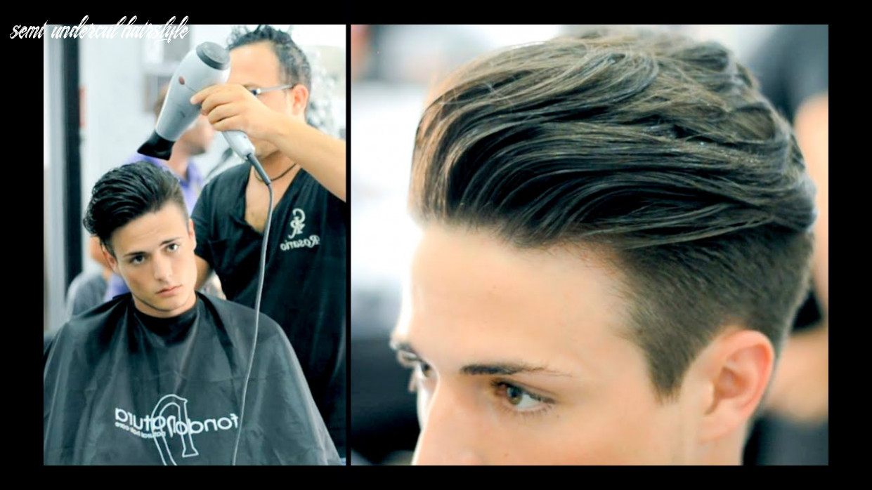 Disconnected undercut haircut and style (actual haircut footage) semi undercut hairstyle