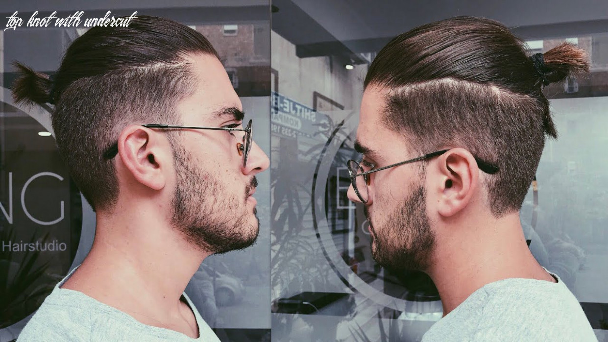Disconnected undercut haircut with a top knot/man bun | mens haircut 11 top knot with undercut