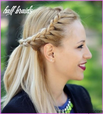 Dutch braid crown half up half down half braids