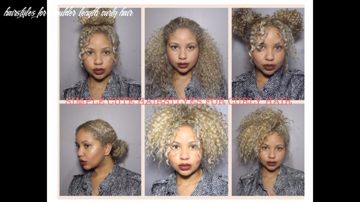 Easy, cute hairstyles for medium length natural curly hair hairstyles for shoulder length curly hair