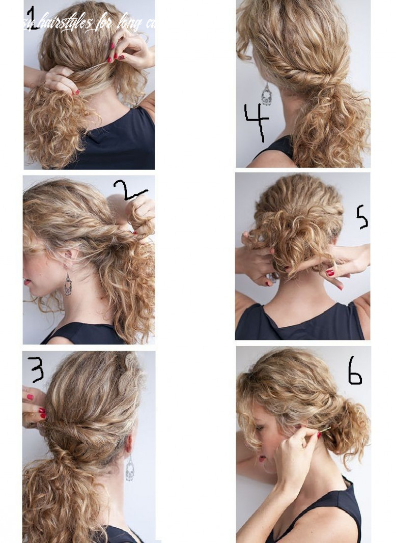 Easy hairstyles for curly hair step by step | quick curly