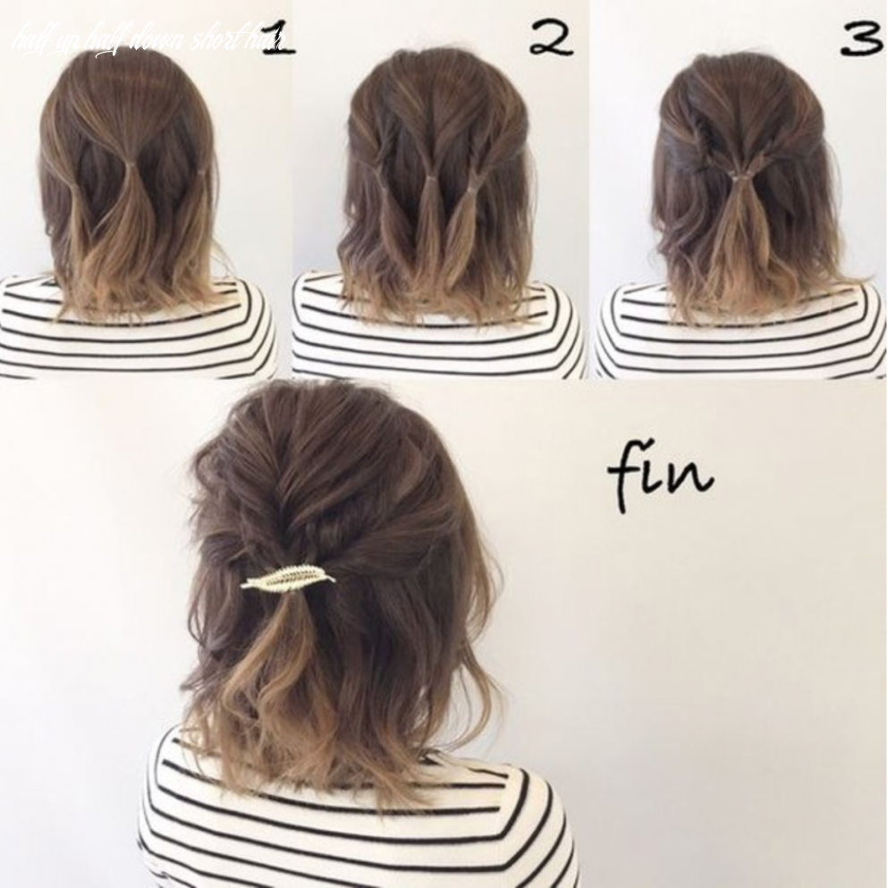 Easy half up half down hairstyles (with images)   short hair updo