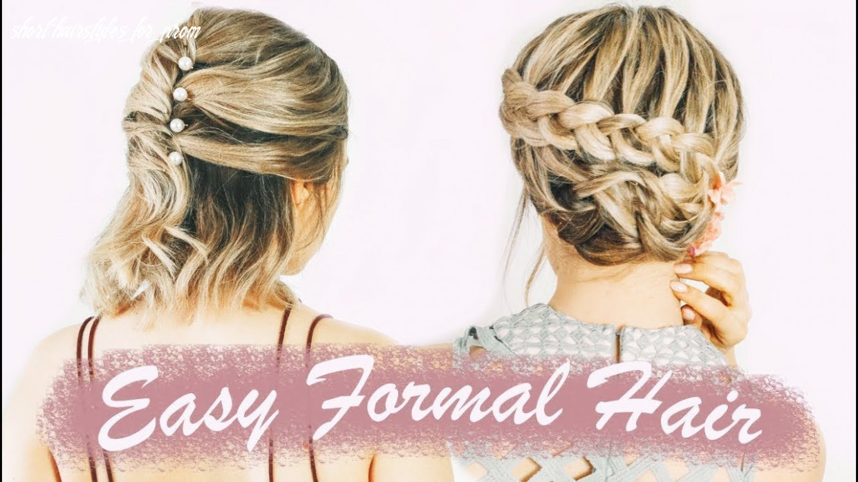 Easy short hairstyles for prom (& weddings, & formals!) kayleymelissa short hairstyles for prom