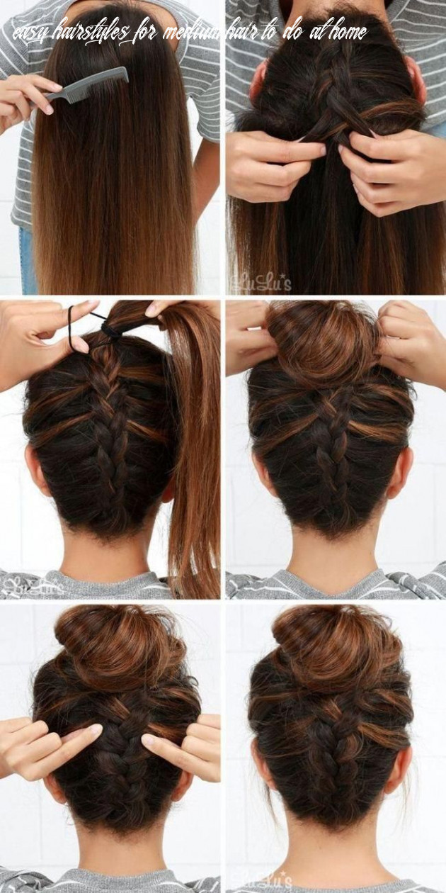 Easy updos for long hair step by step to do home on english 9