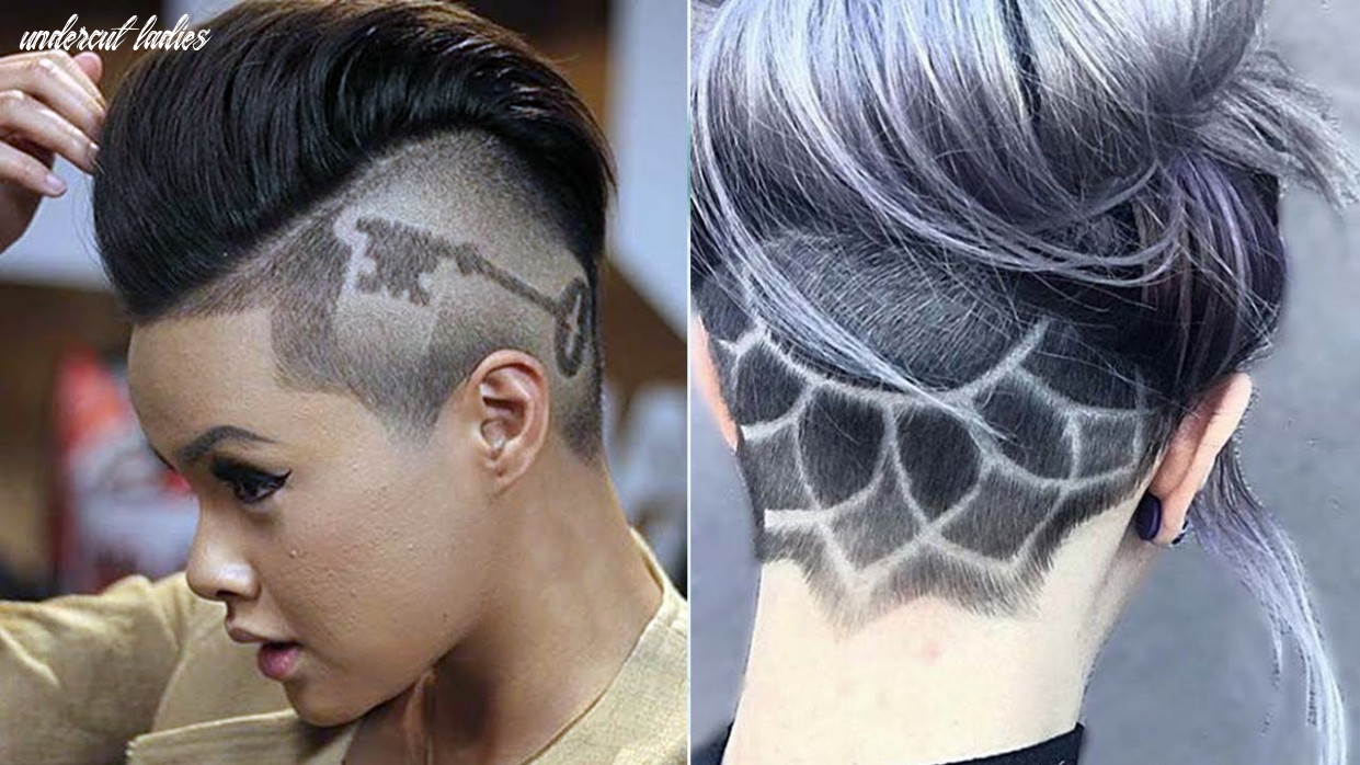 Extreme undercut ideas for women & girls ♛ undercut haircut women ♛ nape under cut women design undercut ladies