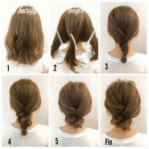 Fashionable braid hairstyle for shoulder length hair | frisuren easy hairstyles for mid length hair