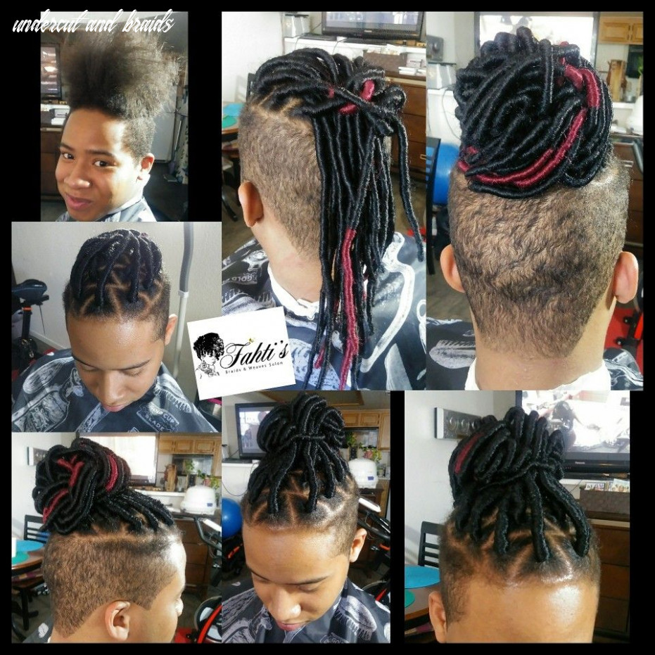 Faux Locs with Undercut, Man Bun, Braids by Fahtis Braids n Weaves ...