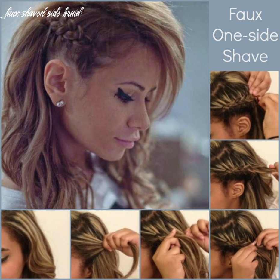 Faux one-side shave | Side braid hairstyles, Cool braid hairstyles ...