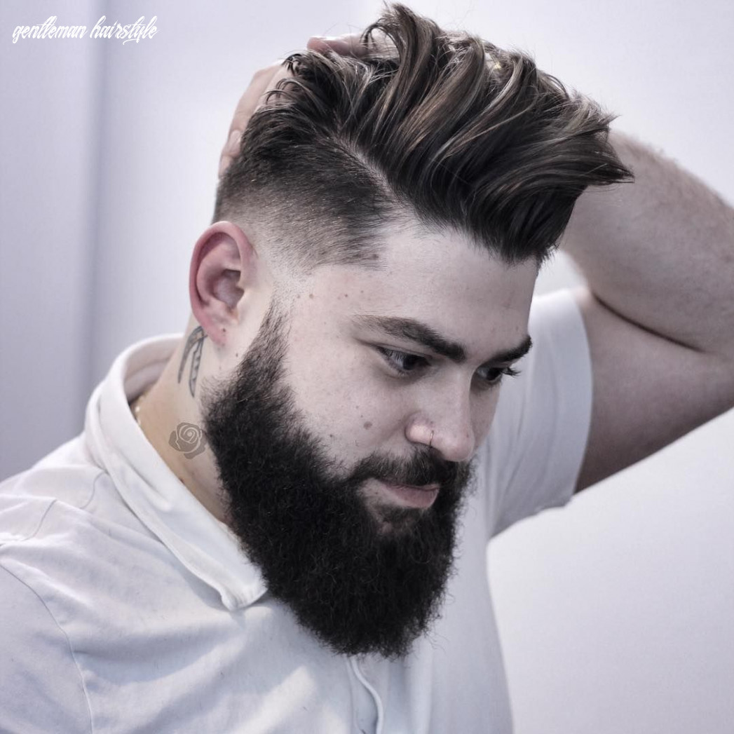 Gentleman Haircut with beard | Men haircut styles, Gentleman ...