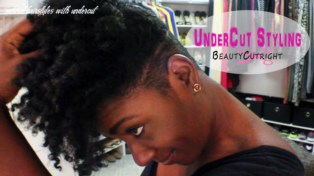 Get ready with me| natural hair undercut| qiuck face natural hairstyles with undercut