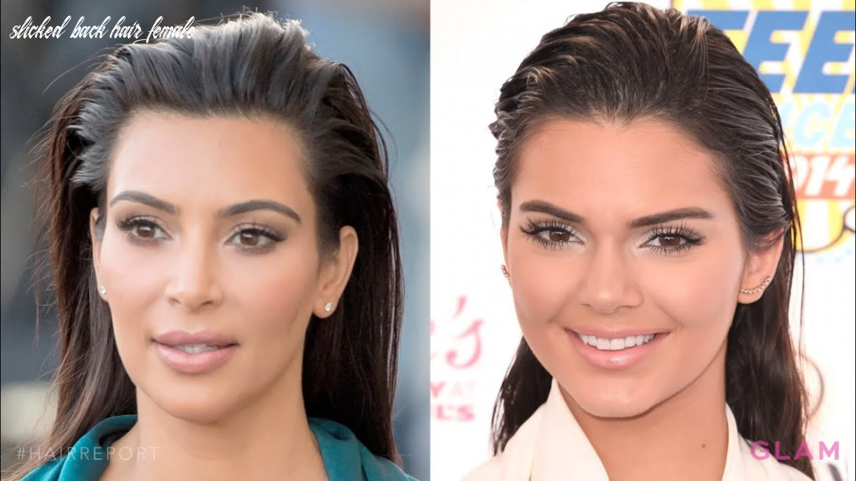 Get slicked back hair like kim kardashian | hair report slicked back hair female