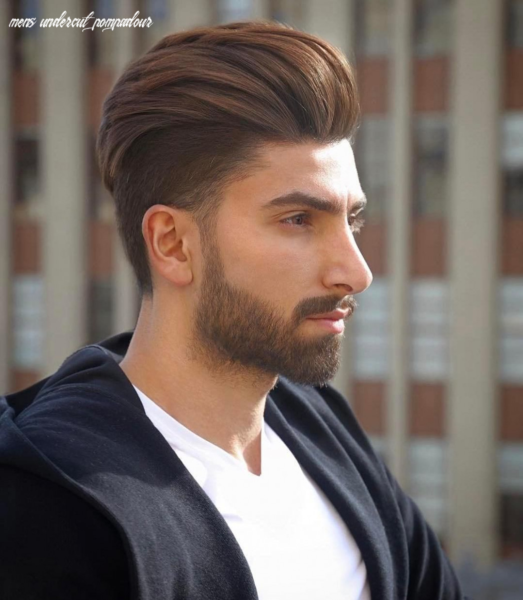 Get this hairstyle undercut with a high volume backcombed
