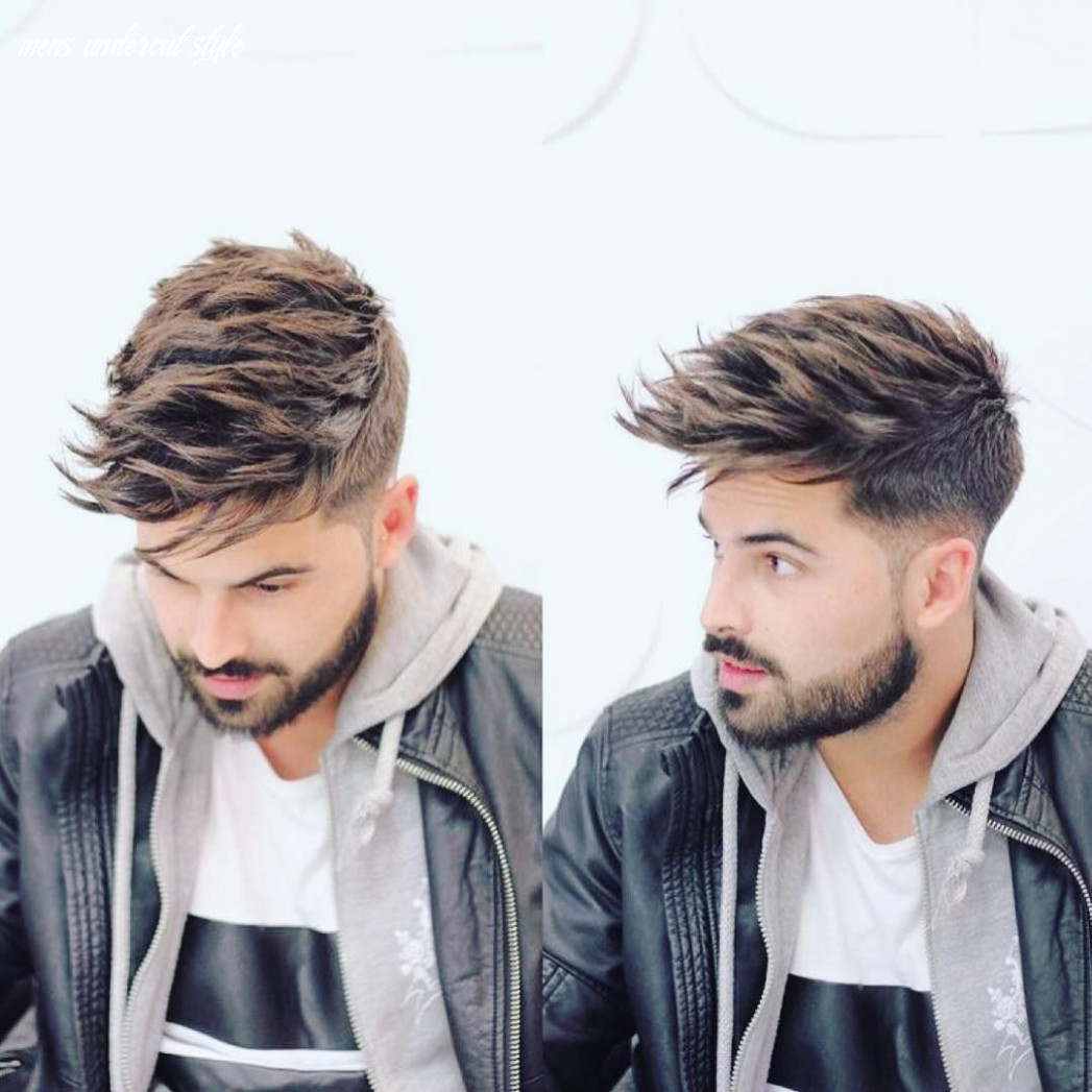 Get this hairstyle: undercut with long textured spiky fringe on
