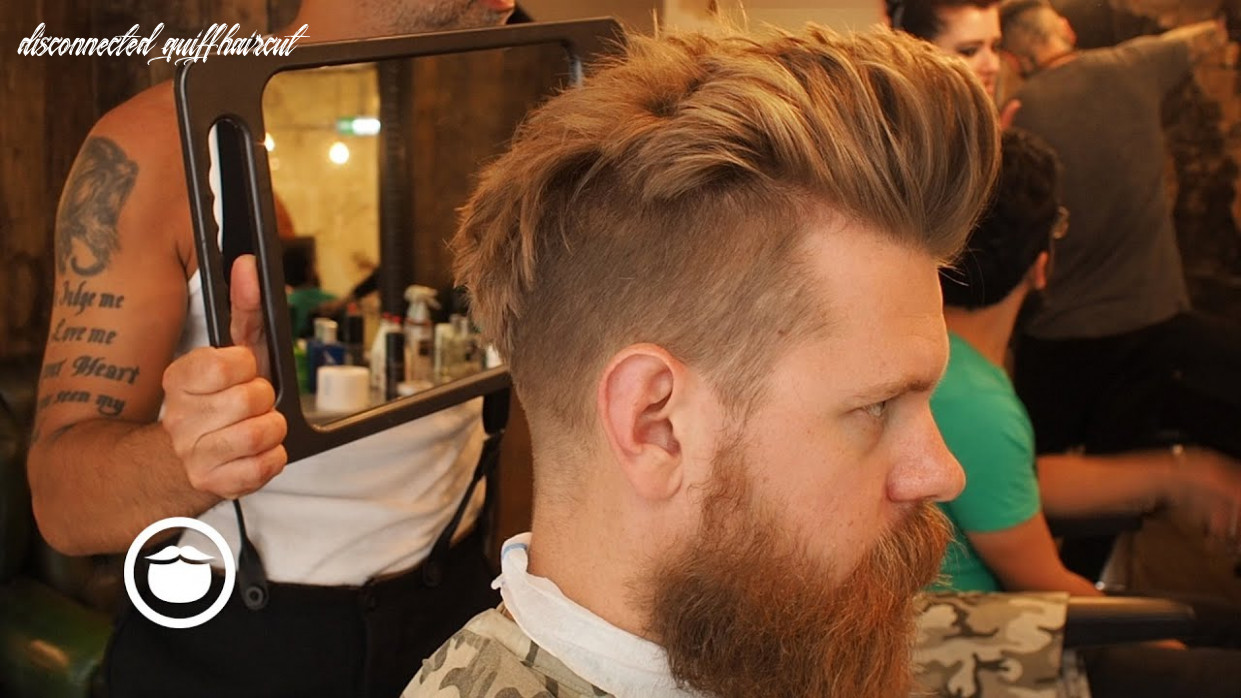 Getting a Natural Disconnected Quiff Hair Cut | Eric Bandholz