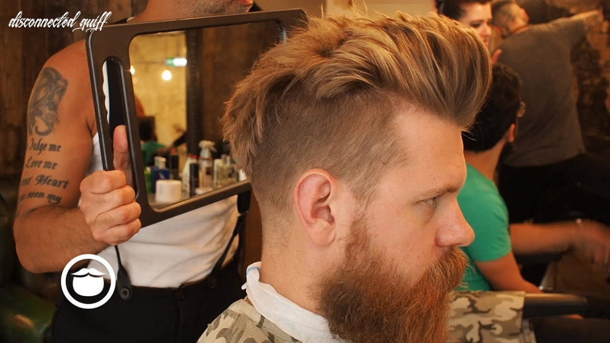 Getting a natural disconnected quiff hair cut | eric bandholz disconnected quiff