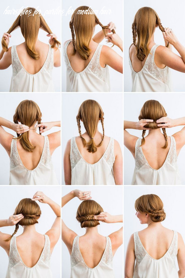 Gibson tuck with braids midlength hair | thick hair styles, medium