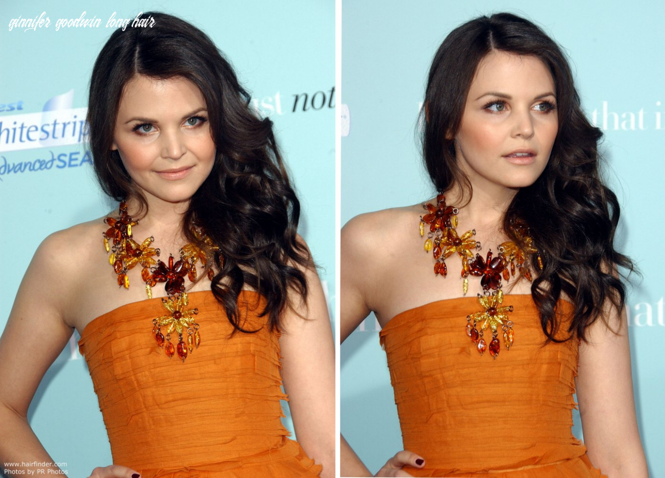 Ginnifer goodwin   long hair with waves and curls that cover only